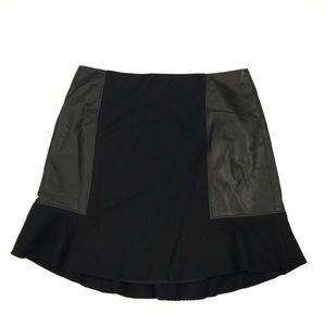 Madewell Leather-Panel Boulevard Mini Skirt